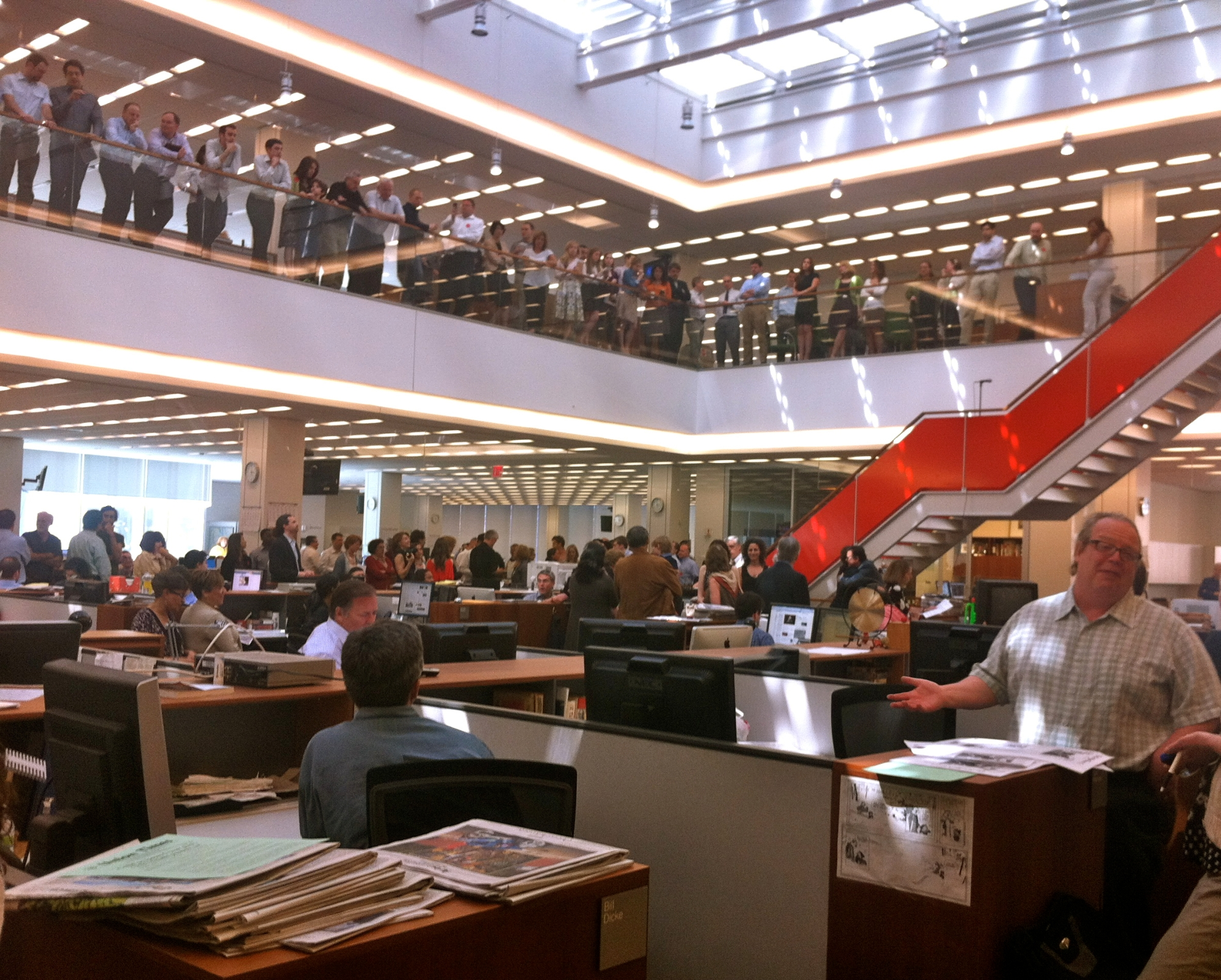 NYT Inside Pulitzer Announcement Photo